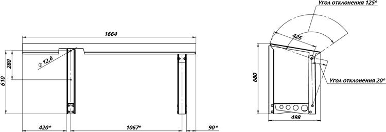 Габаритные размеры вертикальной монтажной рамы